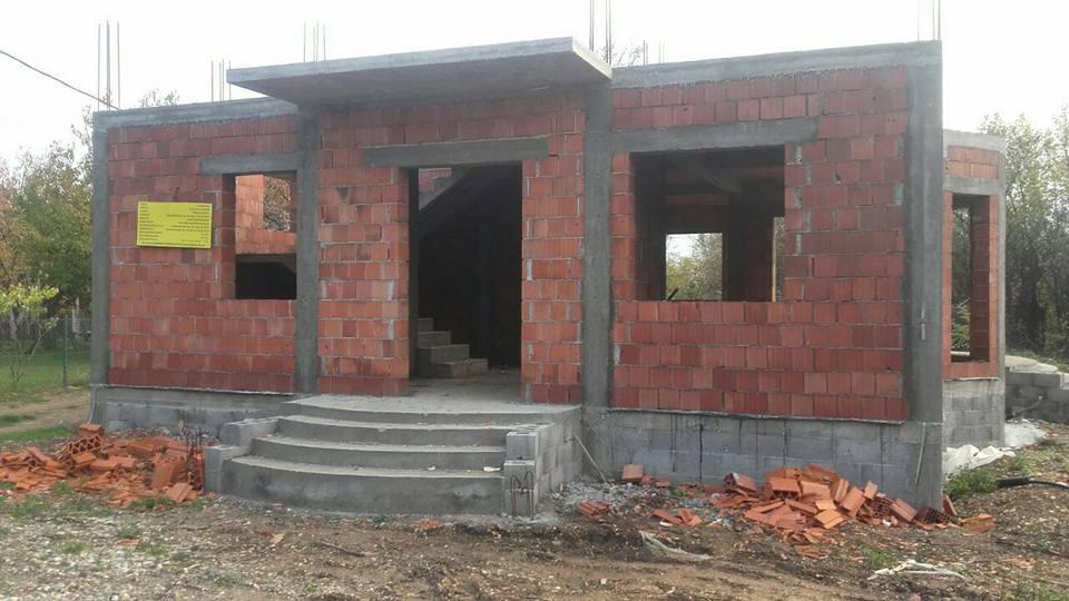 Izgradnja Lovačke kuće oktobar 2017.